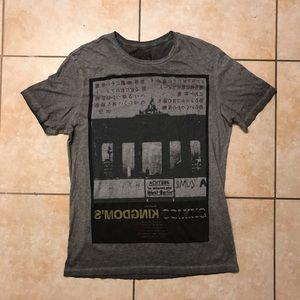 AllSaints SpitalField Kingdoms Coming Grey T-Shirt